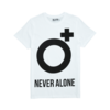 Clothing|T-Shirts, Polos & Tops Mens White Never Alone O+ T-shirt