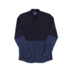 Clothing|Blouses & Shirts Navy Tonal panelling Shirt