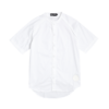Clothing|Blouses & Shirts White Baseball Jersey with 3/4 Sleeves