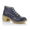 Boots|Sandals Kopey Hi Womens Dark Blue, Classic Kickers styling with a taller, girlier, glammer heel