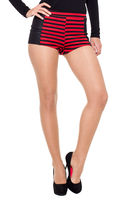 Shorts & Bermudas  - Kaite Monochrome Striped Hot Pants