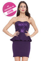 Dresses & Skirts  - Lilly Lace and Sequin Peplum Dress