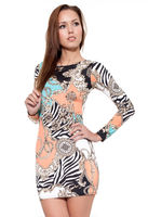 Dresses & Skirts  - Lindsay Mixed Print Bodycon Dress