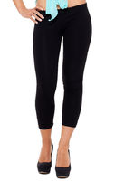 Leggings  - Remi Plain Black Leggings