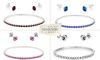 Choice of 4 Stunning Swarovski Elements Bracelets with matching Stud Earrings- Mothers Treat yourselves!