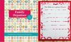 The Ultimate Family Planner; ready to start when you are. Never miss another party/play date again!