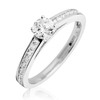 Jewellery Diamond Engagement Ring 0.65ct, 18k White Gold