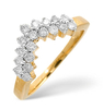 Rings Diamond Wishbone Ring 0.45ct, 9k Gold