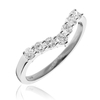 Rings Diamond Wishbone Ring 0.50ct, 18k White Gold