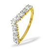 Rings Diamond Wishbone Ring 0.70ct, 18k Gold