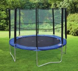 Sports Equipment & Accessories  - Hedstrom Trampoline with Enclosure - 8ft
