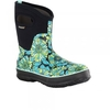 Boots Classic Mid Mumsie in Black Turquoise Floral