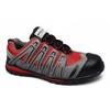 Trainers DEVIN Mens Suede Composite Safety Trainers Red/Grey