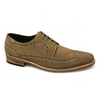 Shoes ELIA Mens Suede Brogue Welted Shoes Cognac