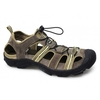 Sandals SYDNEY Mens Suede Toggle Trail Sandals Taupe