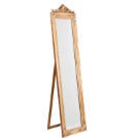 Home & Garden  - DIANA Cheval mirror with gold relief frame 40 x 180 cm