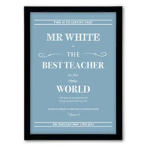 Destination prints  - Best teacher in the world