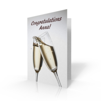 Jumbo Cards > Congratulations  - Jumbo Card Congrats Champagne Glasses