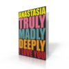 Jumbo Cards > Valentines Days Jumbo Card Valentine Truly Madly Deeply