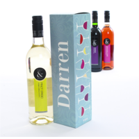 Wine Boxes > For Men  - Wine with Box Glasses (Light Blue)