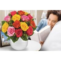 Get Well Flowers  - Mixed Roses (Medium)