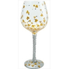 Birthday Gifts for Her Superbling Heart of Gold Wine Glass by Lolita Designs