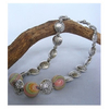 Unusual Jewellery Gifts Swirly Bead and Silver Nugget Necklace by Kirsty Allan