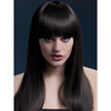 Fever Alexia 19 Inch Long Brown Blunt Cut Wig with Fringe