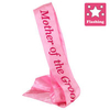 Badges Sashes & L-Plates>Sashes Flashing Mother of the Groom Pink Satin Sash