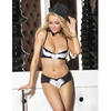 Bras > Push-up Shirley of Hollywood satin and mesh tuxedo bra and short set