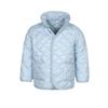 Jackets & Coats Benetton Baby Quilted Jacket With Logo in Light Blue with Matching Buttons