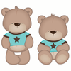 Kids Wall Stickers Boy Teddy Bear Wall Sticker - Multicoloured