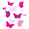 Home Wall Stickers Butterfly Small - Multicoloured