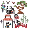 Kids Wall Stickers Cute Oriental Wall Stickers