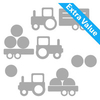 Kids Wall Stickers Tractors Wall Sticker Set