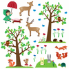 Kids Wall Stickers Woodland Wall Stickers