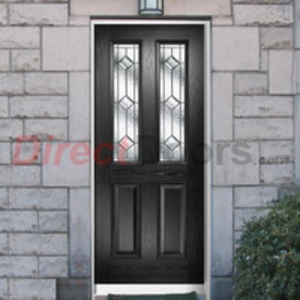 XL Composite Door Sets  - Malton Composite Door with Decorative Glass