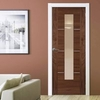 Verde Nova Walnut 1L Door with Clear Glass,  Pre-Finished,  1/2 Hour Fire Rated