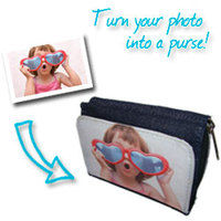 Photo Wallets and Purses  - Denim Photo Purse