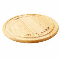 Personalised Mothers Day Gifts  - Round Wood Chopping Board