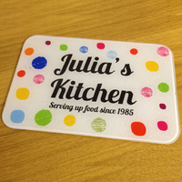 Personalised Christmas Presents  - Spotty Worktop Saver