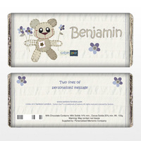 Personalised Gifts for Boys  - Tweed the Bear Chocolate