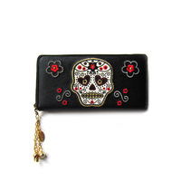 Accessories > Bags & Backpacks  - Banned White Sugar Skull Wallet