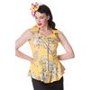 Women > Tops Hell Bunny Yellow Nioha Top