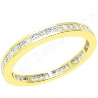 Eternity Rings Full > 18ct Yellow Gold Full Eternity Rings  - JEW100Y - 18ct yellow gold 2.0mm wide full eternity/wedding ring with channel set round brilliant cut diamonds going all the way around.