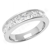 JEW148W - 18ct white gold 4.5mm eternity/wedding ring,  with 9 round brilliant cut diamonds in a channel setting