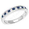 JEWS061W - palladium 2.9mm eternity ring with 8 round sapphires and 7 round brilliant cut diamonds in a channel setting