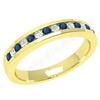 Coloured Gemstone Rings > Sapphire Diamond Rings > 18ct Yellow Gold Sapphire Diamond Rings JEWS061Y - palladium 2.9mm eternity ring with 8 round sapphires and 7 round brilliant cut diamonds in a channel setting