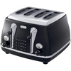 Delonghi Icona Vintage 4 Slot Toaster - Matt Black