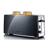 Graef Elongated 2 Slot Toaster - Black / Polished Stainless Steel